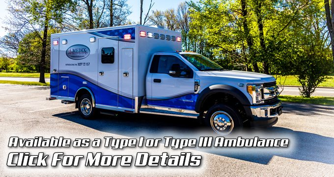 MSV-II ambulance manufactured by Medix Specialty Vehicles