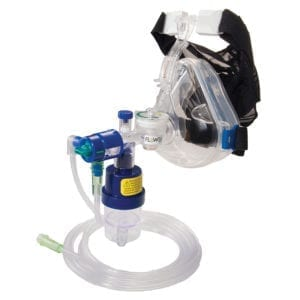 Flow-Safe II EZ disposable cpap with ports and EZflow MAX Nebulizer