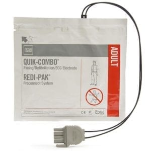 Defibrillator Electrode, EDGE System with QUIK-COMBO® Connector and REDI-PAK™ Preconnect System