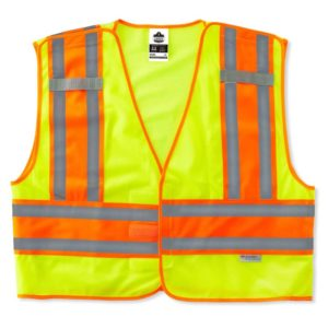 Safety Vest, GloWear 8245PSV Type P Class 2, Breakaway,