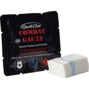 Hemostatic Gauze, QuikClot Combat, Z-fold,