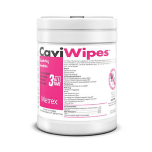 canister of disinfectant wipes made by CaviWipes